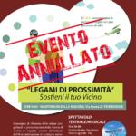 Convegno 13 marzo 2020 LEGAMI DI PROSSIMITA